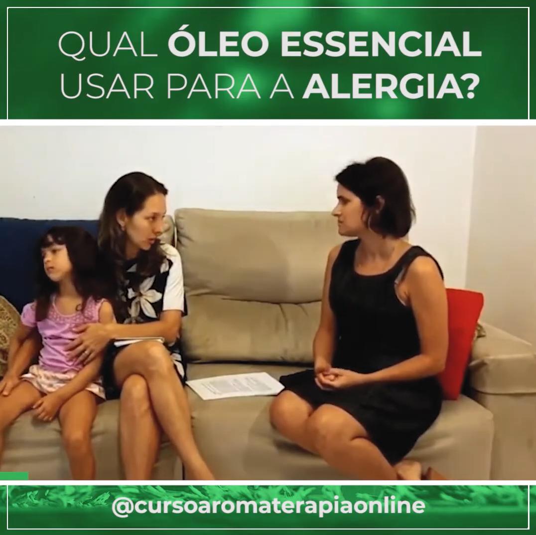 Qual óleo essencial usar para a alergia?