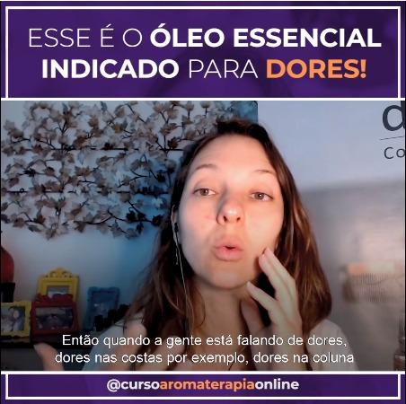 ÓLEOS ESSENCIAIS PARA DORES