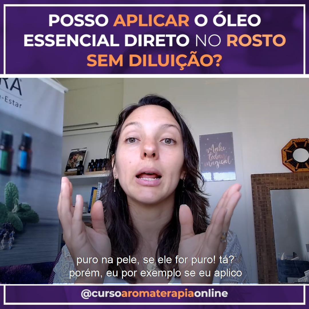 AROMATERAPIA ÓLEOS ESSENCIAIS APLICAÇÃO NO ROSTO
