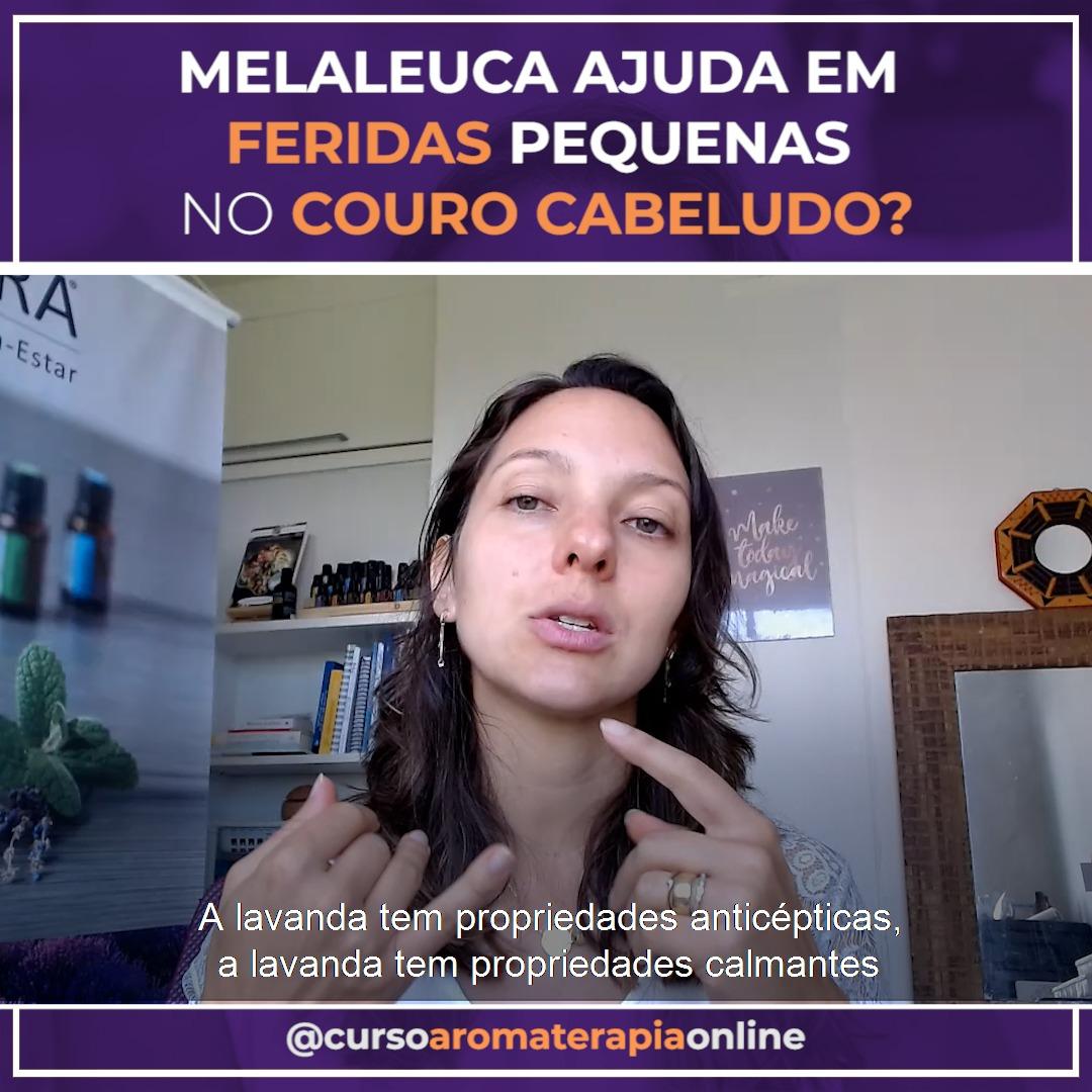 AROMATERAPIA ÓLEOS ESSENCIAIS FERIDAS NO COURO CABELUDO