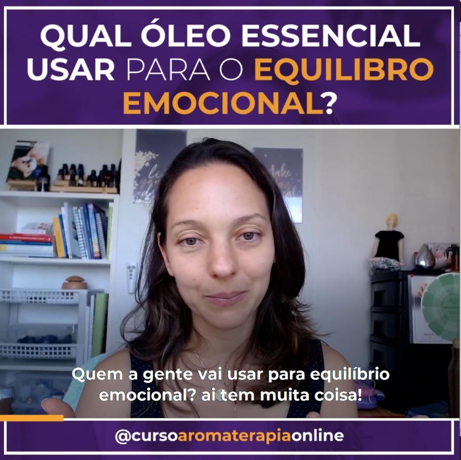 AROMATERAPIA ÓLEOS ESSENCIAIS EQUILÍBRIO EMOCIONAL