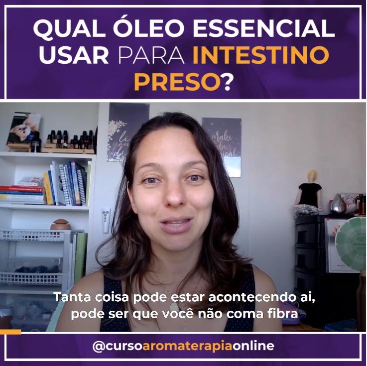 AROMATERAPIA ÓLEOS ESSENCIAIS PARA INTESTINO PRESO