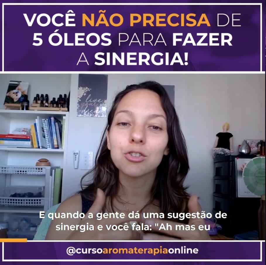 VOCÊ NÃO PRECISA DE 5 ÓLEOS PARA FAZER A SINERGIA